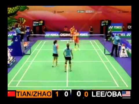2012 Hong Kong Open R1 WD Tian Qing / Zhao Yunlei [1] (CHN) VS Eva Lee / Paula Lynn Obanana (USA)