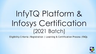 InfyTQ by Infosys for 2021 Batch Students | Certification | Job Opportunity at Infosys