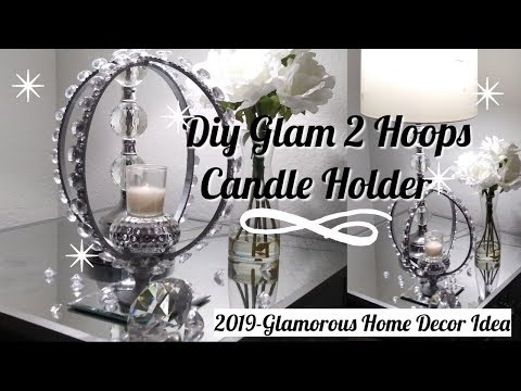 Diy Glam 2 Hoops Candle Holder / 2019-Glamorous Home Decor Idea