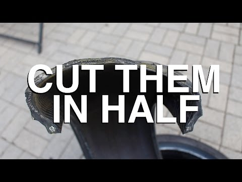 how to cut a tyre
