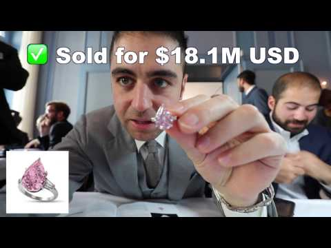 9.14ct Fancy Vivid Pink Pear Shape Diamonds sold at Christie's for $18.1M | Full Auction & Review