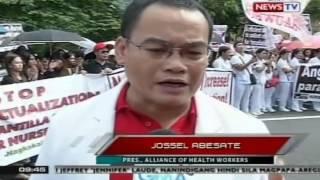 SONA: Umano'y kawalan ng oportunidad at mababang kita ng mga nurse sa Pilipinas, ipinrotesta