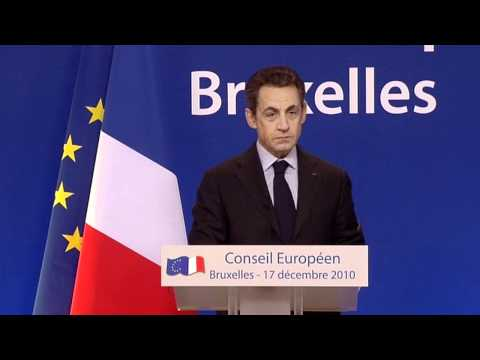 Nicolas Sarkozy, President of France - EU Summit Press Confe