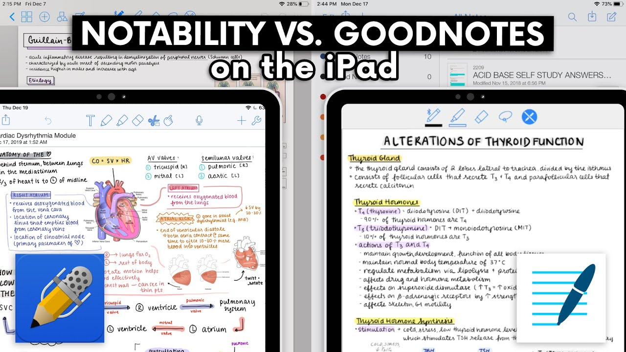 NOTABILITY VS  GOODNOTES ON THE IPAD ✍🏻 (+ GIVEAWAY!) ♡