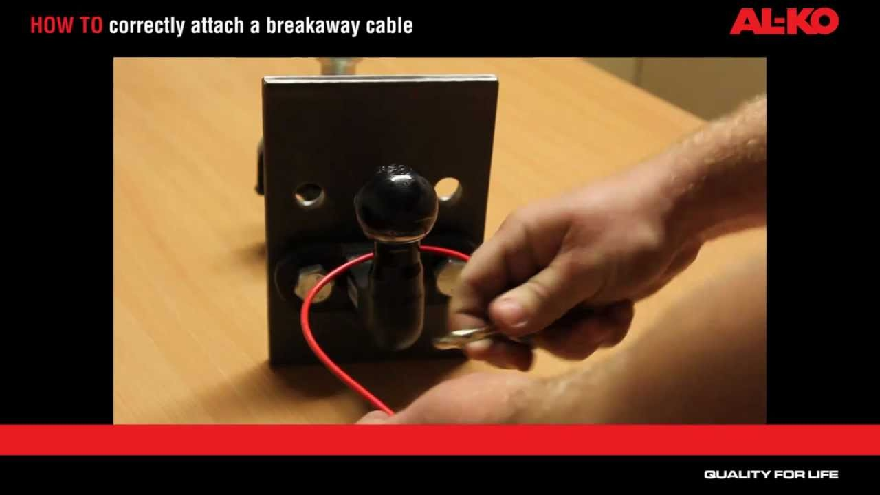5 Wire Trailer To Truck Wiring Diagram How To Correctly Attach Your Breakaway Cable Youtube