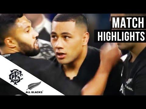 Barbarians 22 All Blacks 31 – the highlights from Twickenham