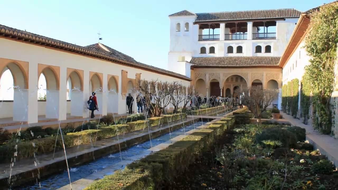 La alhambra generalife granada andaluc a 7 youtube for Jardines de gomerez granada