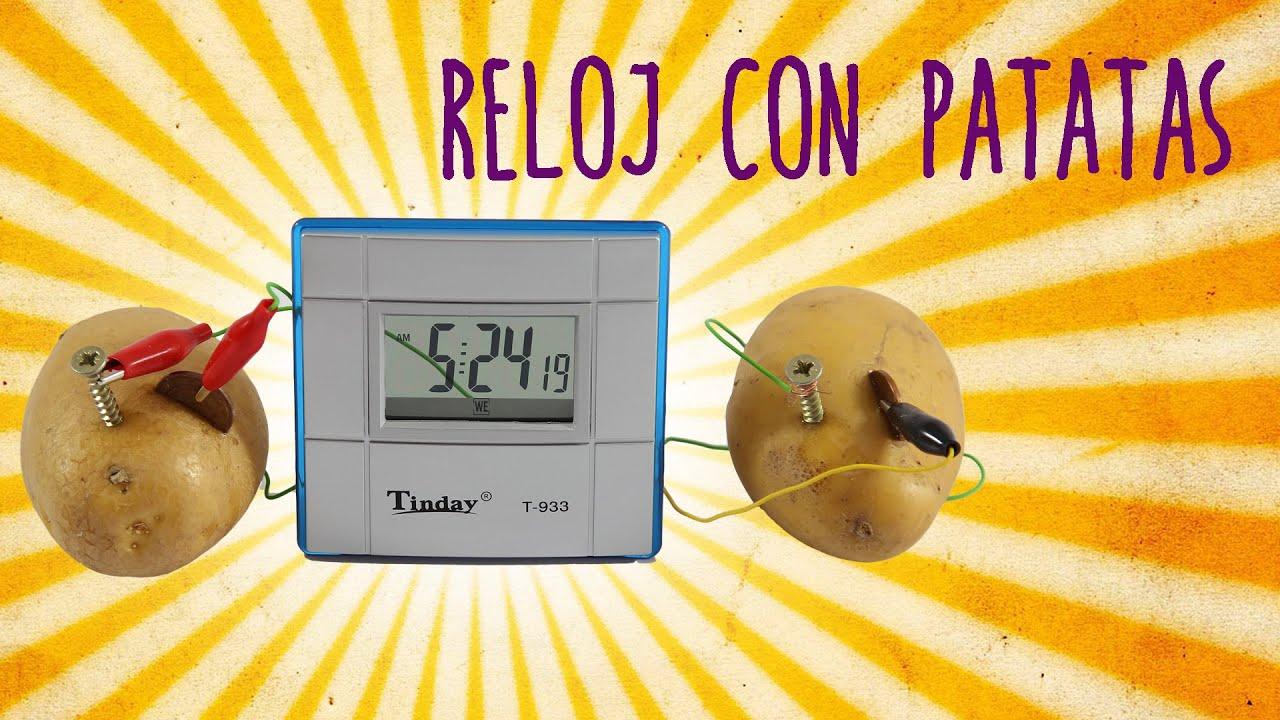 Incre ble reloj con patatas experimentos caseros youtube - Relojes originales de pared ...