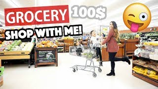 A Weeks Worth Of Groceries for My Family of Four | 100$