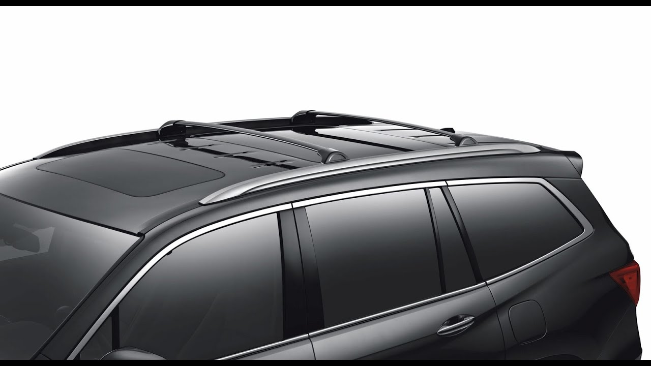 VANGUARD 16-17 Honda Pilot SUV Black Top Roof Rack Cross ...