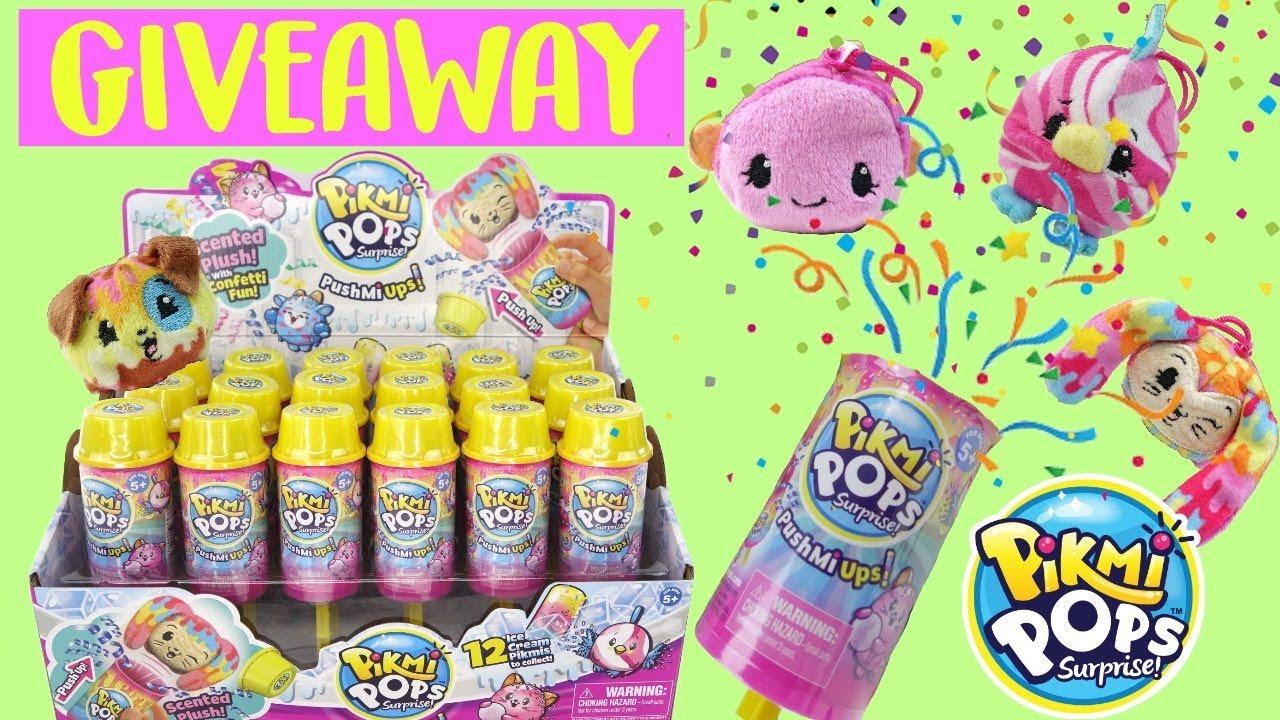 Set of 2 Pikmi Pops Surprise Push Mi Ups Scented Plush Toys