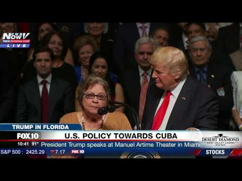 POWERFUL: Trump Introduces Woman Imprisoned by Castro Regime, She Speaks and Thanks the President