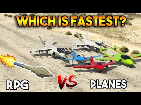 GTA 5 ONLINE : RPG VS JET PLANES(WHICH IS FASTEST?)