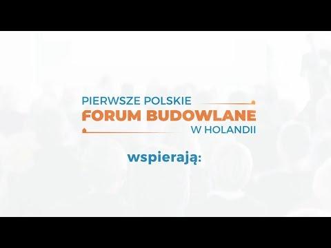 Sponsorzy Pierwszego Polskiego Forum Budowlanego w Holandii