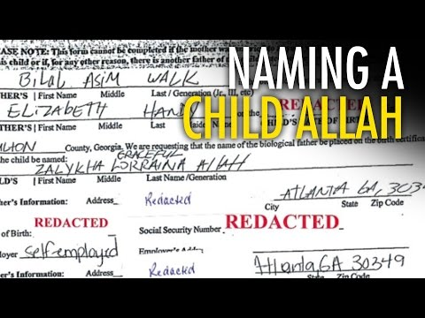 "Welfare bums sue to name baby ""Allah"""