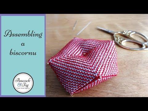 Assembling a biscornu (and includes a free biscornu pattern)