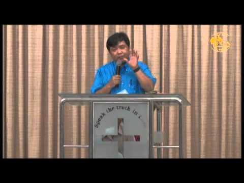 Rev. Go Chin Zam preaching at Full Gospel Assembly, Myanmar, June 07, 2015