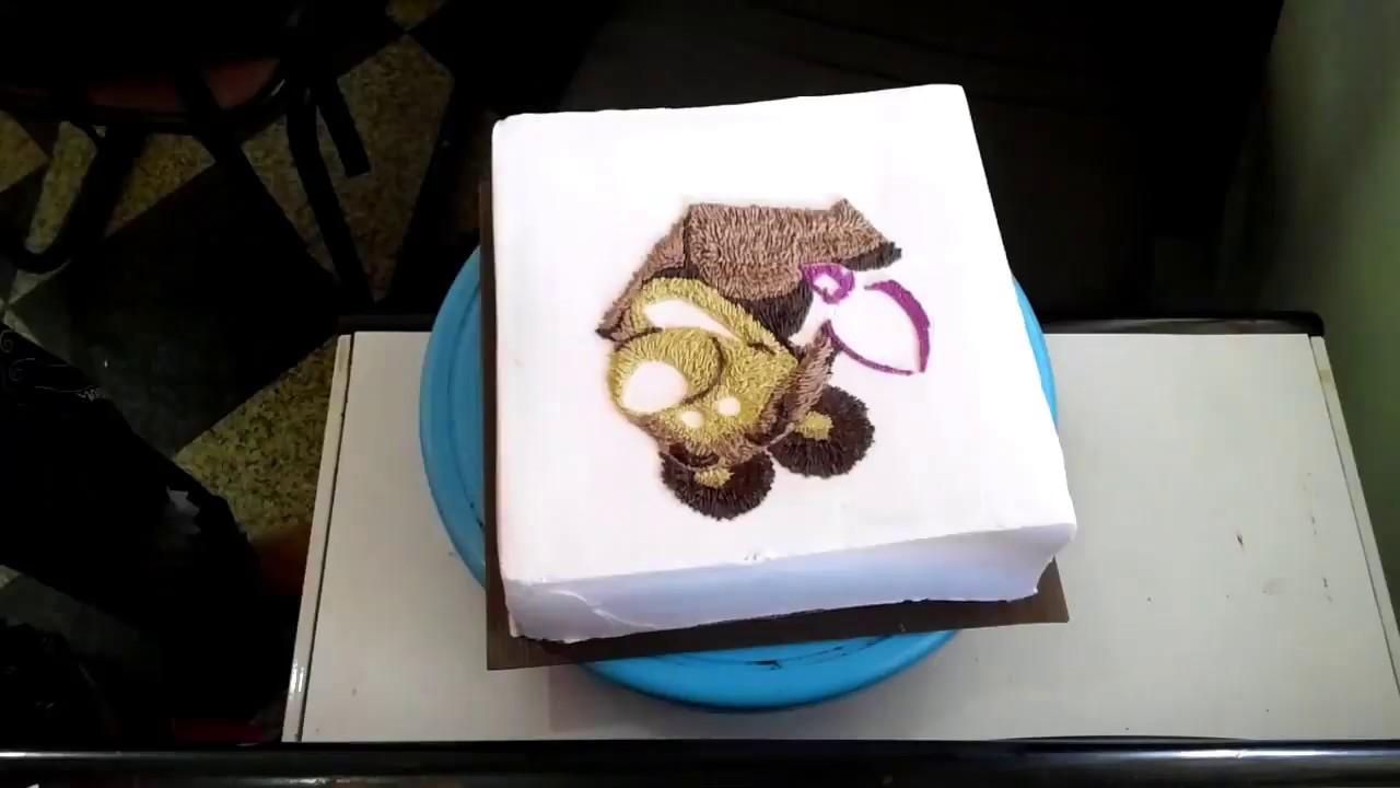 Masha and the bear birthday cake YouTube