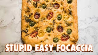 Crazy Easy Tomato and Olive Focaccia + A Thank you
