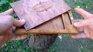 Коробочка для свадебных фотографий 002 Упаковка из дерева, коробочки