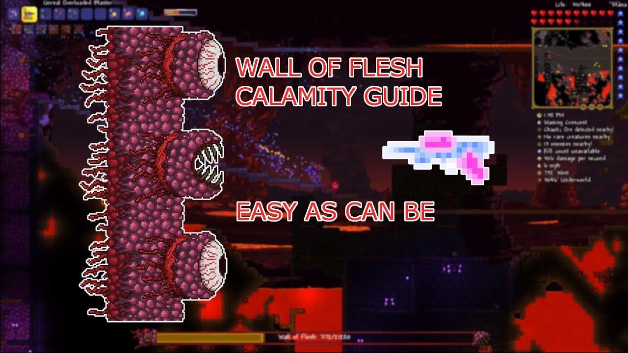 Terraria Calamity Mod (Revengeance) Wall of Flesh pre-hardmode guide