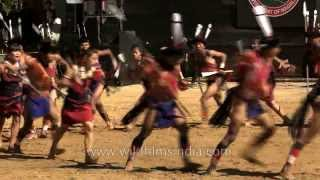 Brave warrior song presented by the Lotha tribe