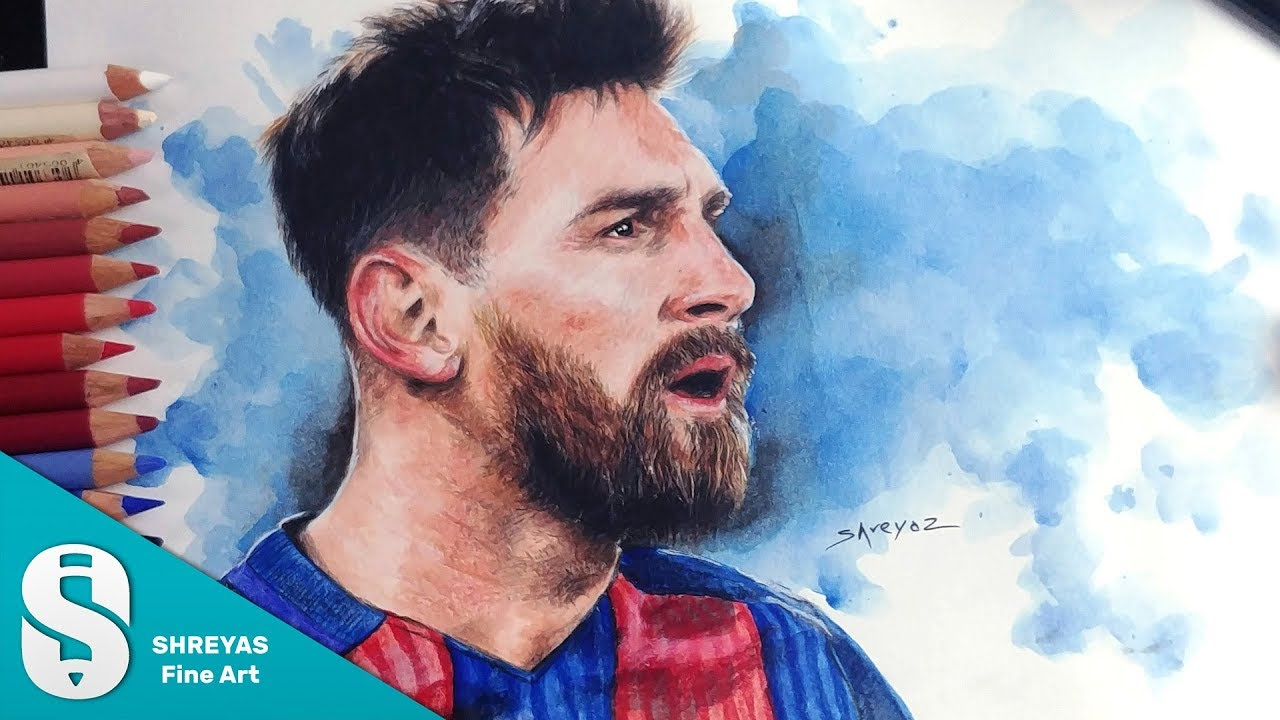 c15332f66a8 Speed Drawing  Lionel Messi (FC Barcelona) - Color Pencil ...
