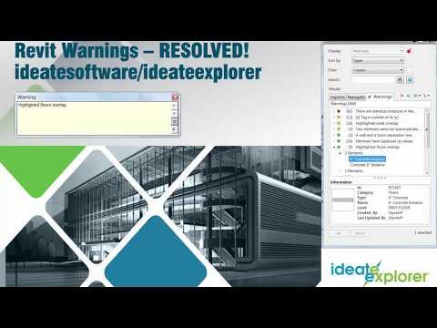 Revit Warnings Resolved – Floors Overlap | Ideate Software