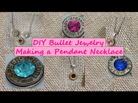 Diy making a bullet jewelry pendant necklace youtube aloadofball