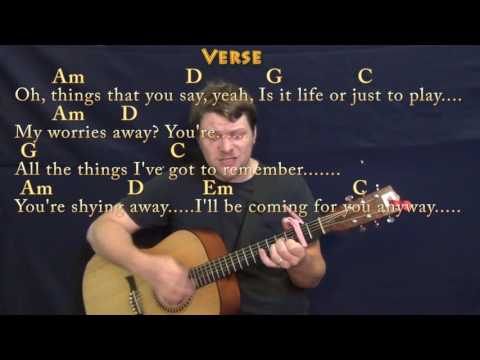 Take on Me (a-ha) Guitar Cover Lesson with Chords/Lyrics - Capo 2nd