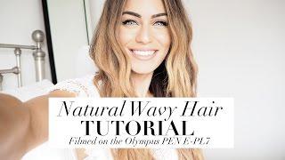 natural wavy hair tutorial   filmed on the olympus pen   lydia elise millen