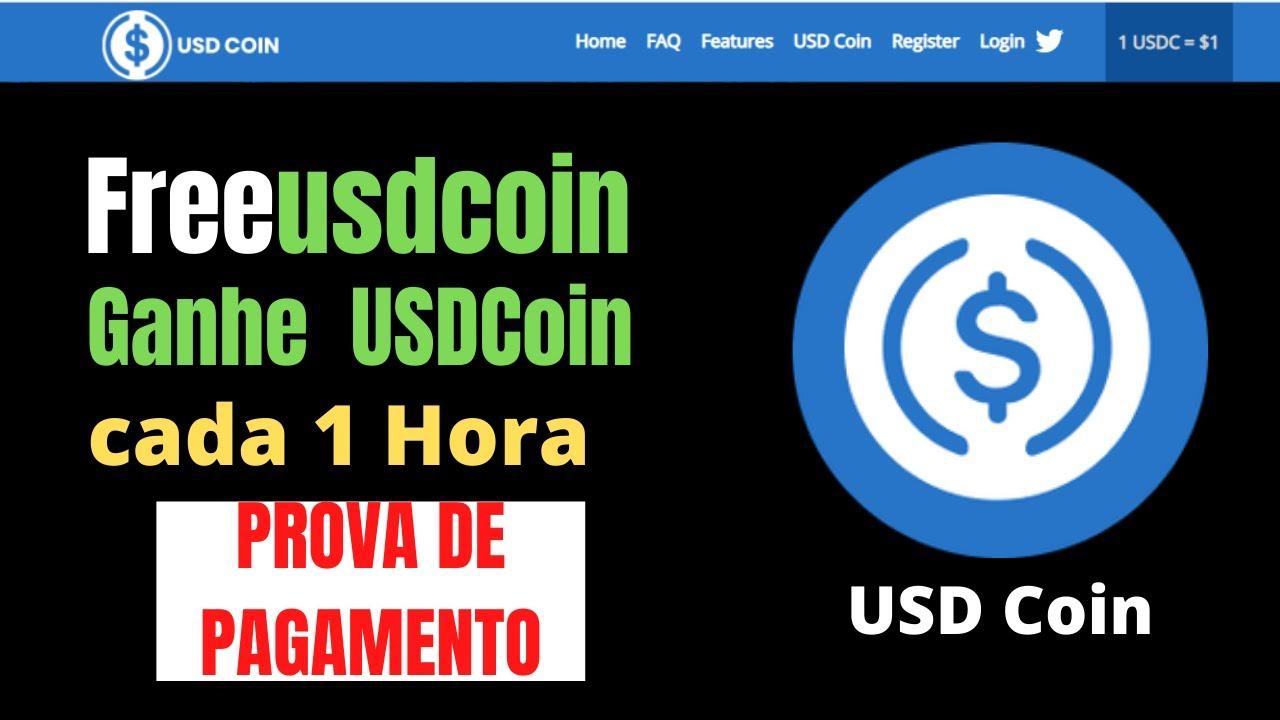 Free USDCoin Ganhe USDCoin a cada 1 Hora - (Prova de Pagamento)