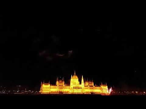 Budapest. Fireworks on Danube