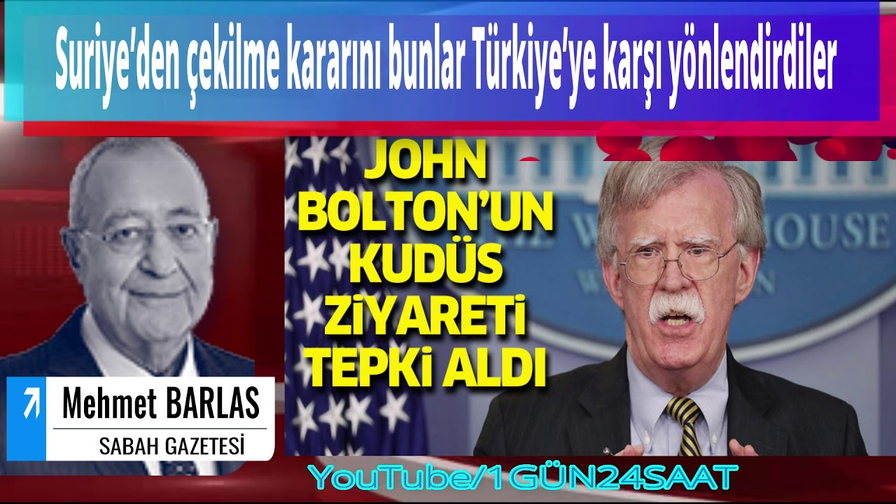 MEHMET BARLAS Suriye'den çekilme kararını bunlar Türkiye'ye karşı yönlendirdiler
