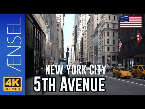 5th Avenue - New York in 4K