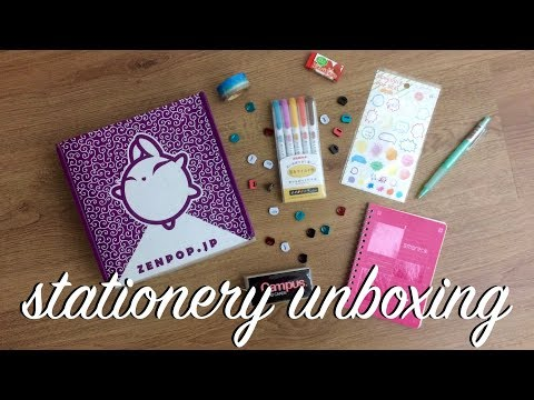 STATIONERY UNBOXING