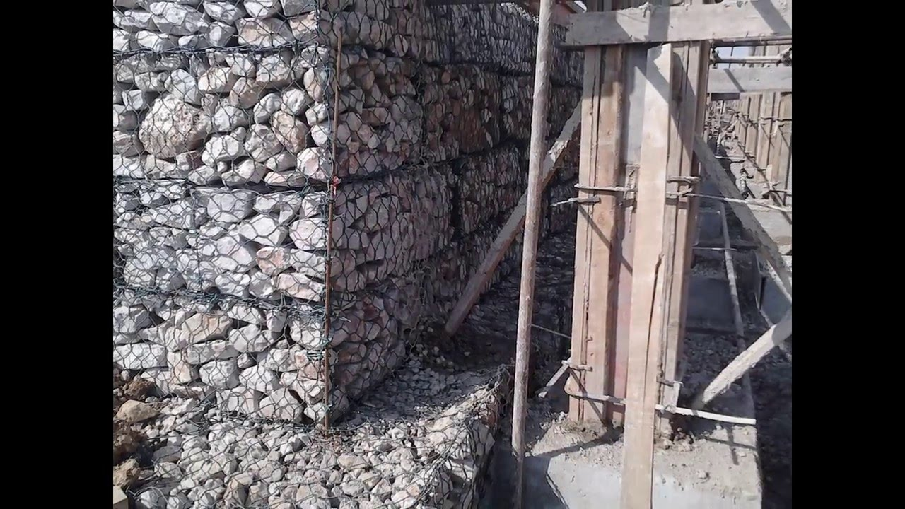 Gabion structures: photo, device, application 12