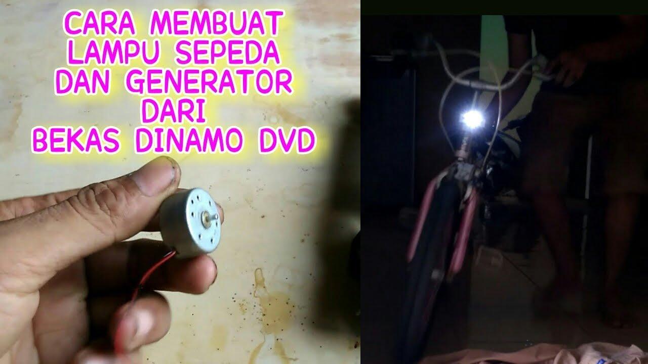 Generator sepeda dari Dinamo bekas DVD untuk menyalakan ...
