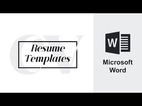 Microsoft Word | Resume CV | How to Edit