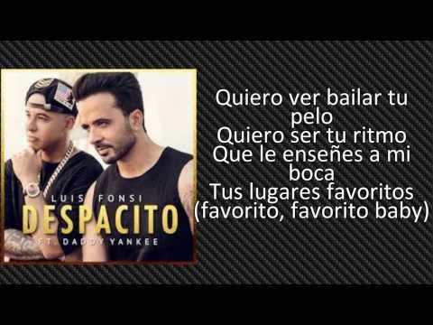Letra de Despacito (ft. Daddy Yankee) de Luis Fonsi