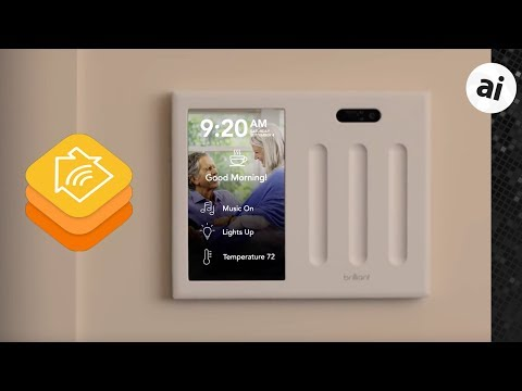 Brilliant In-Wall HomeKit Switch & Touchscreen Control Panel!