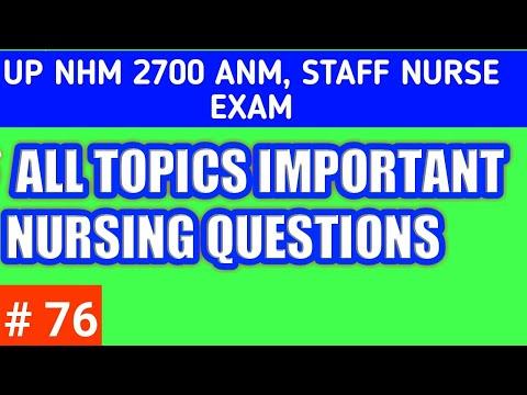# Up Nhm / # Up Nhm Anm, Staff Nurse Exam 2020 / अति महत्वपूर्ण All Topics Nursing प्रश्न 2020