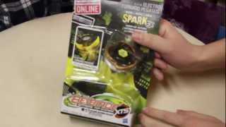 Electro Tornado Pegasus XTS SPARK FX X-61A Unboxing & Review - Beyblade Electro Spark Battlers GLOWS
