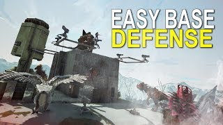 EASY BASE DEFENSE (BEST BASE SPOTS) -  Ark Extinction (Official Small Tribe Pvp) - Ep. 4