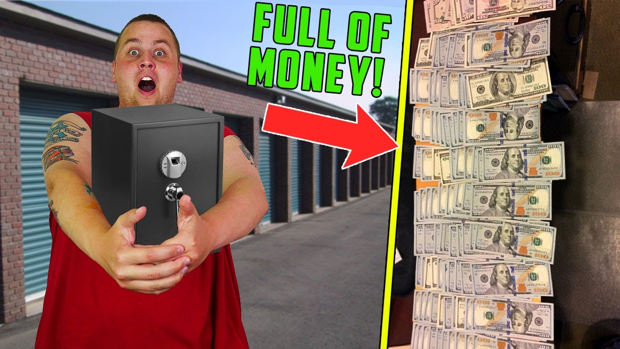 BUSTING OPEN LOCKED SAFE In THIEFS STORAGE UNIT! FULL OF MONEY and COINS! Storage Unit Finds! MONEY!