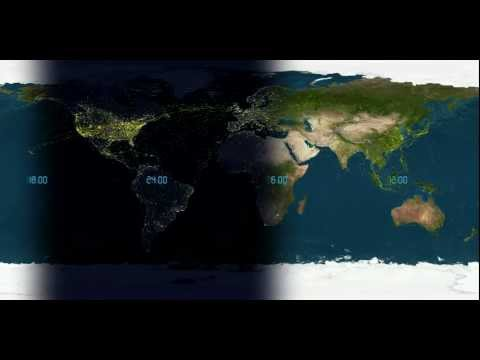 Global Air Traffic Over 24 Hours [1080p]