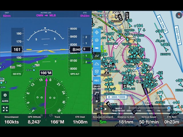 Florida General Aviation Traffic into KFXE with Cessna 310 March  2019