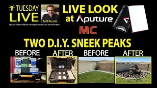 LIVE Look at Aputure MC Light and Sneak Peek of Two D.I.Y Projects