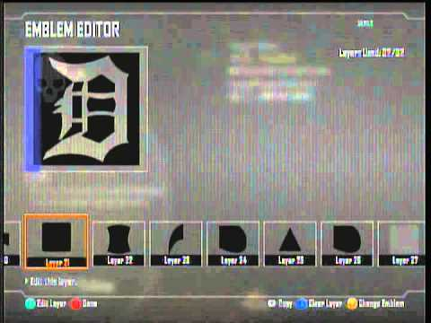 How To Make Detroit Tigers D Logo For An Emblem In Black Ops 2 Call Of Duty