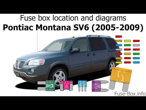 2009 chevy uplander fuse box fuse box location and diagrams pontiac montana sv6  2005 2009  pontiac montana sv6